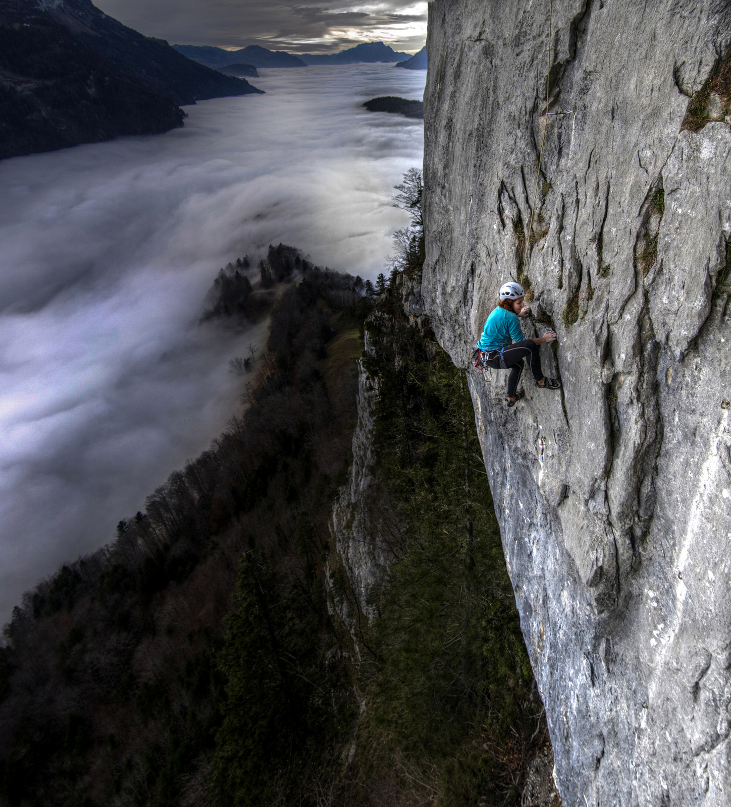 Climbing above the clouds at Fallenflue