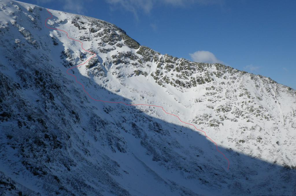 Blencathra skitour - Sidewall destruction