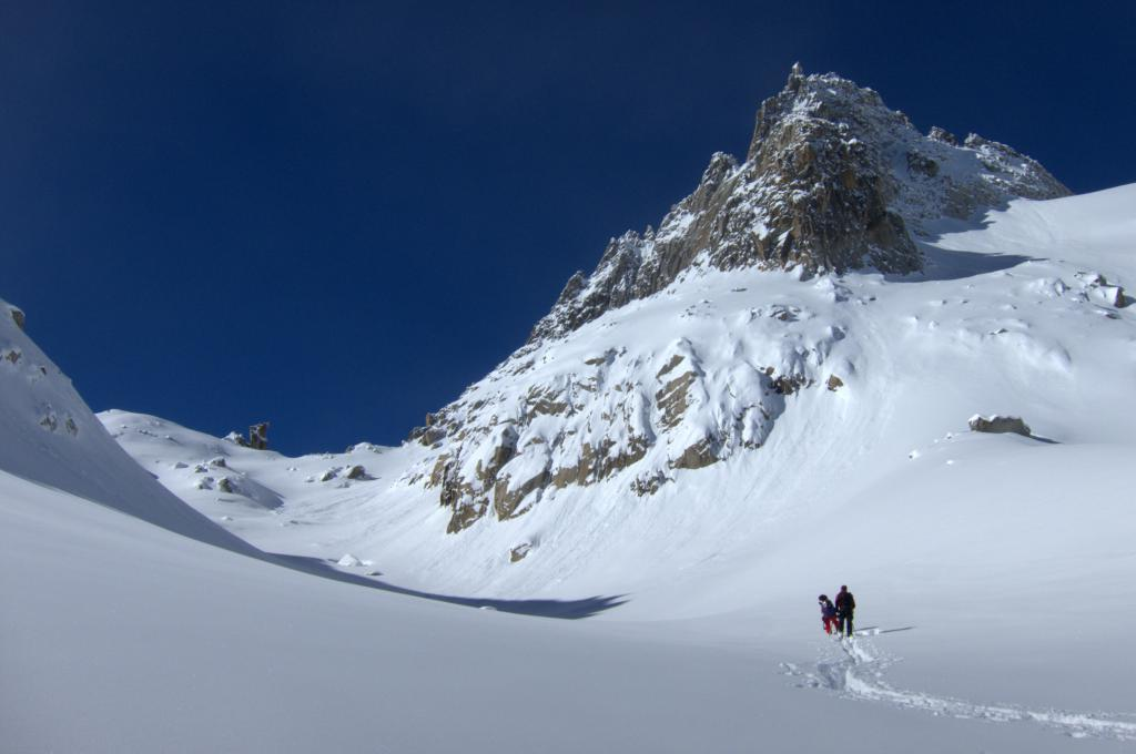 Chli Bielenhorn, ski tour, view of Gross Bielenhorn