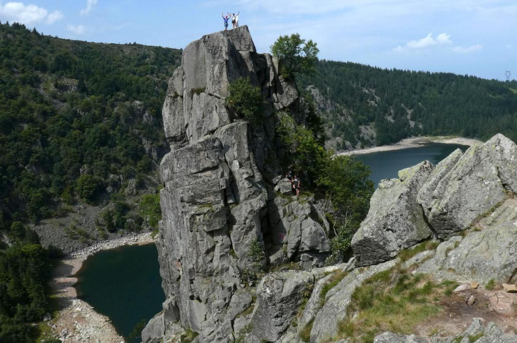 Climbing at Rocher Hans, Lac Blanc