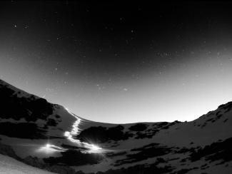 night descent of helvellyn by ski