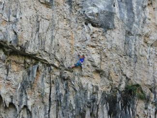 Superb tufa climbing at Gran Boveda, Rodellar