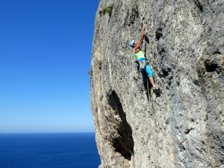 Climbing Polar Bear at Kalymnos North Cape