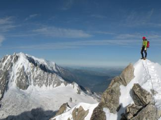 Summit of Aiguille du Chardonnet