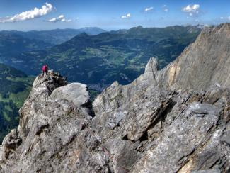 Topping out on Kingspitze