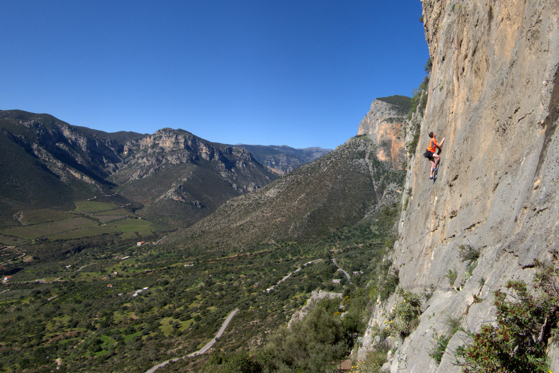 Climbing at Hot Rock, Leonidio